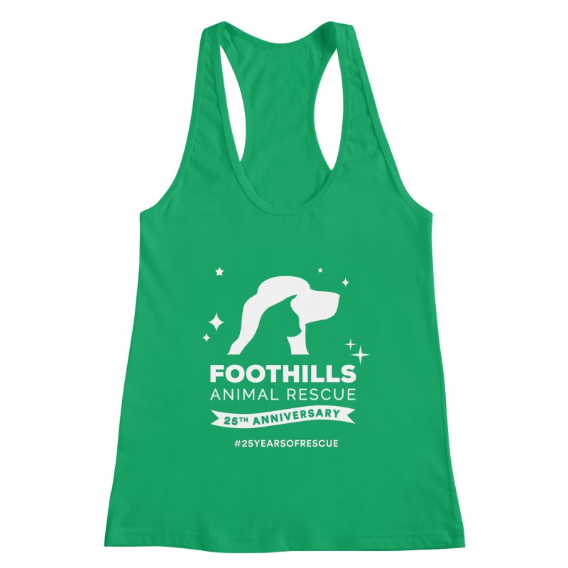 25th Anniversary Ribbon (Light Version) Women's Tank by Foothills Animal Rescue Swag