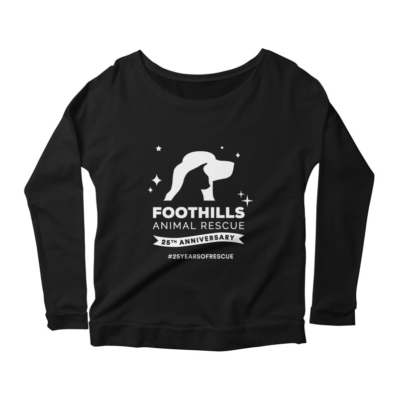 25th Anniversary Ribbon (Light Version) Women's Scoop Neck Longsleeve T-Shirt by Foothills Animal Rescue Swag