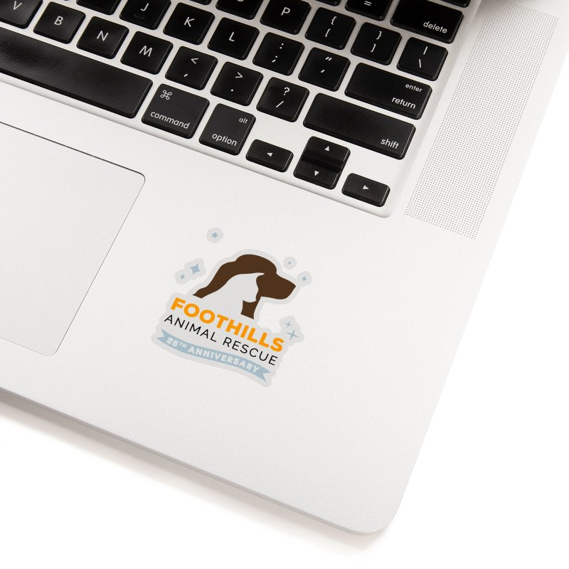 25th Anniversary Sticker Accessories Sticker by Foothills Animal Rescue Swag