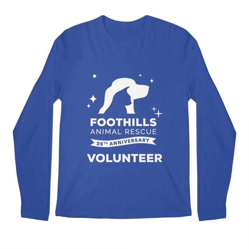 25th Anniversary Volunteer (Light Version) Men's Regular Longsleeve T-Shirt by Foothills Animal Rescue Swag