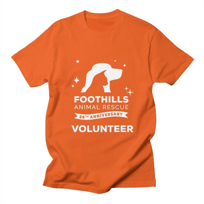 25th Anniversary Volunteer (Light Version) Men's Regular T-Shirt by Foothills Animal Rescue Swag