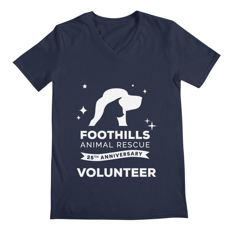 25th Anniversary Volunteer (Light Version) Men's Regular V-Neck by Foothills Animal Rescue Swag
