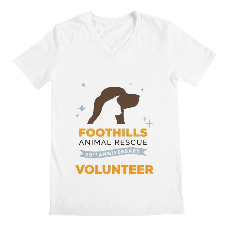 25th Anniversary Volunteer Men's Regular V-Neck by Foothills Animal Rescue Swag