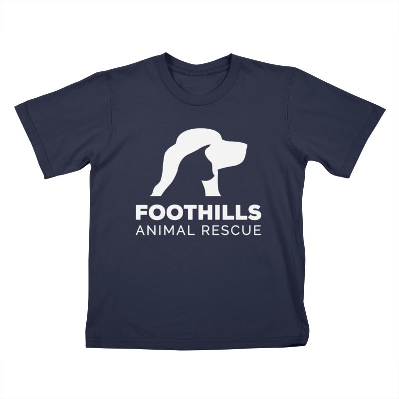Logo Shirt (Light) Kids T-Shirt by Foothills Animal Rescue Swag