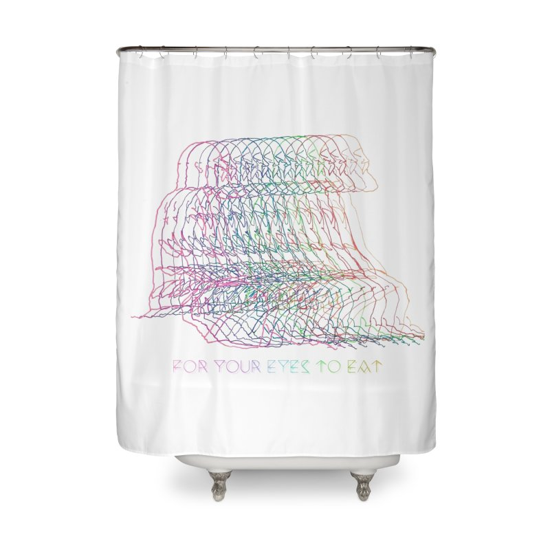 Spectrum Sadhu Home Shower Curtain by FOR YOUR EYES TO EAT - by Anand Khatri