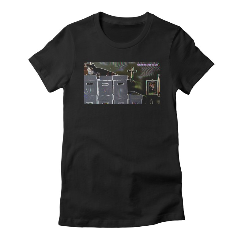 Cat + Comics + Christ Women's T-Shirt by FOR YOUR EYES TO EAT - by Anand Khatri