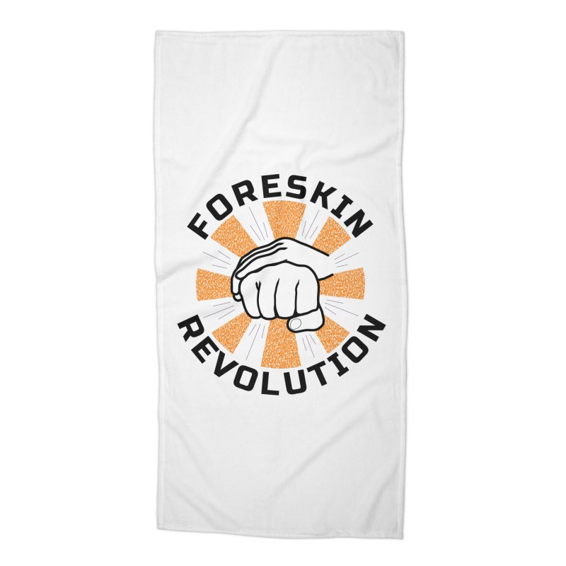 Classic foreskin fist bump Accessories Beach Towel by Foreskin Revolution's Artist Shop