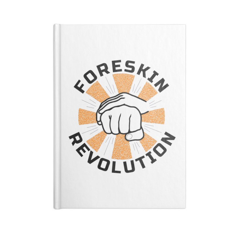 Classic foreskin fist bump Accessories Notebook by Foreskin Revolution's Artist Shop