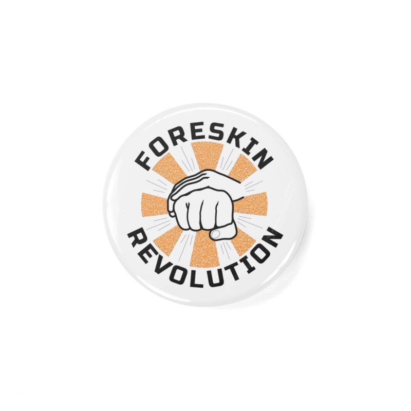 Classic foreskin fist bump Accessories Button by Foreskin Revolution's Artist Shop