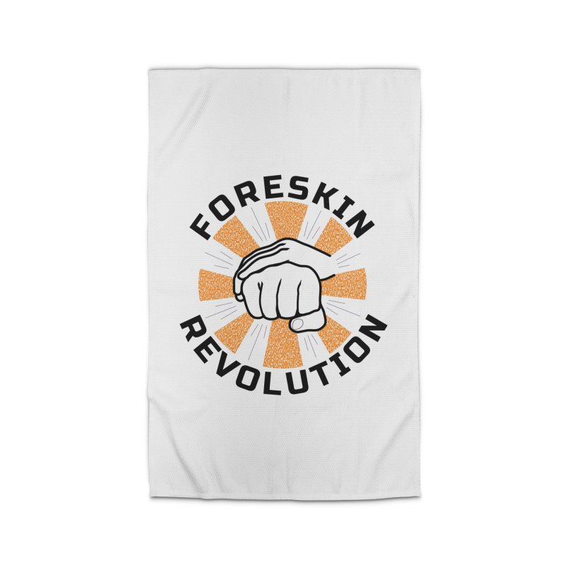 Classic foreskin fist bump Home Rug by Foreskin Revolution's Artist Shop