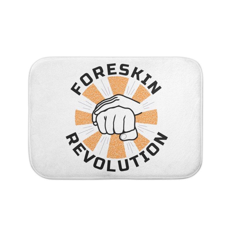 Classic foreskin fist bump Home Bath Mat by Foreskin Revolution's Artist Shop