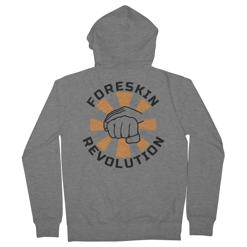 Classic foreskin fist bump Men's Zip-Up Hoody by Foreskin Revolution's Artist Shop