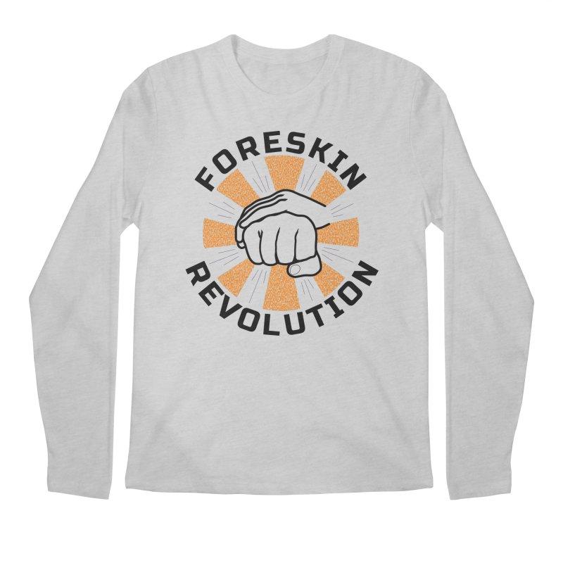 Classic foreskin fist bump Men's Longsleeve T-Shirt by Foreskin Revolution's Artist Shop