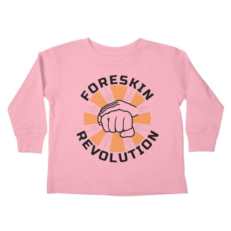 Classic foreskin fist bump Kids Toddler Longsleeve T-Shirt by Foreskin Revolution's Artist Shop