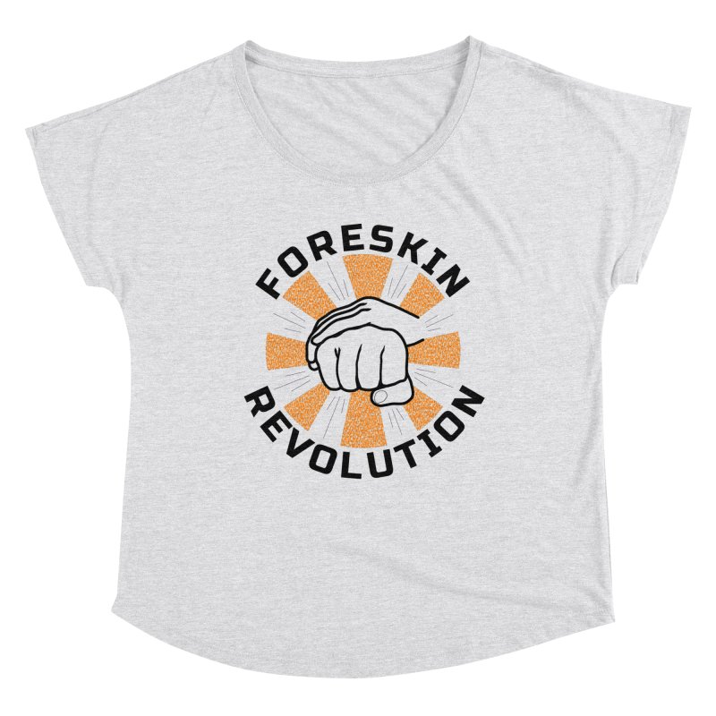 Classic foreskin fist bump Women's Scoop Neck by Foreskin Revolution's Artist Shop