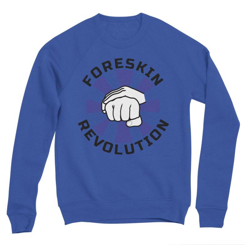 'Purple Rays' foreskin fist bump logo Women's Sweatshirt by Foreskin Revolution's Artist Shop