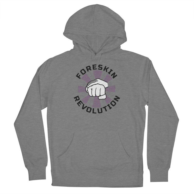 'Purple Rays' foreskin fist bump logo Women's Pullover Hoody by Foreskin Revolution's Artist Shop