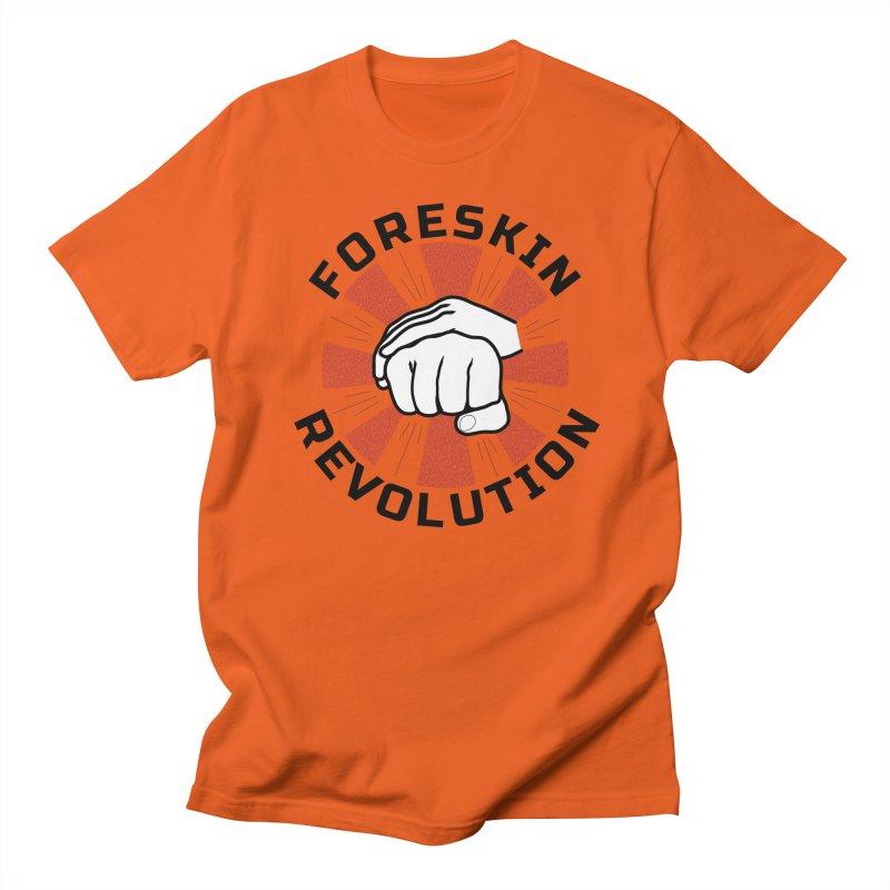 'Purple Rays' foreskin fist bump logo Men's T-Shirt by Foreskin Revolution's Artist Shop