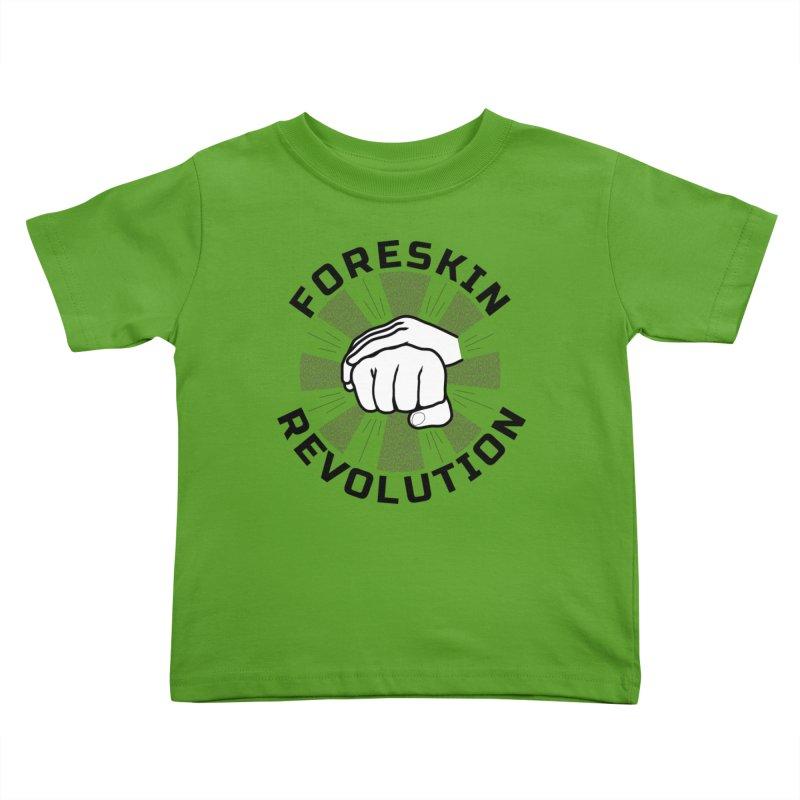 'Purple Rays' foreskin fist bump logo Kids Toddler T-Shirt by Foreskin Revolution's Artist Shop