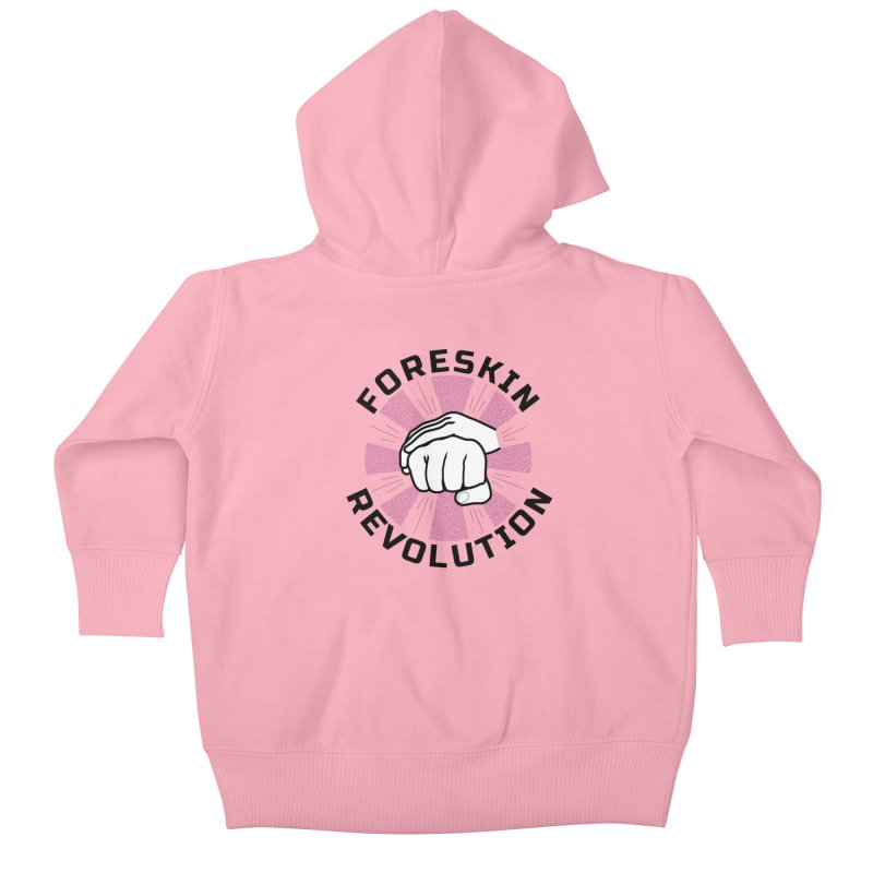 'Purple Rays' foreskin fist bump logo Kids Baby Zip-Up Hoody by Foreskin Revolution's Artist Shop