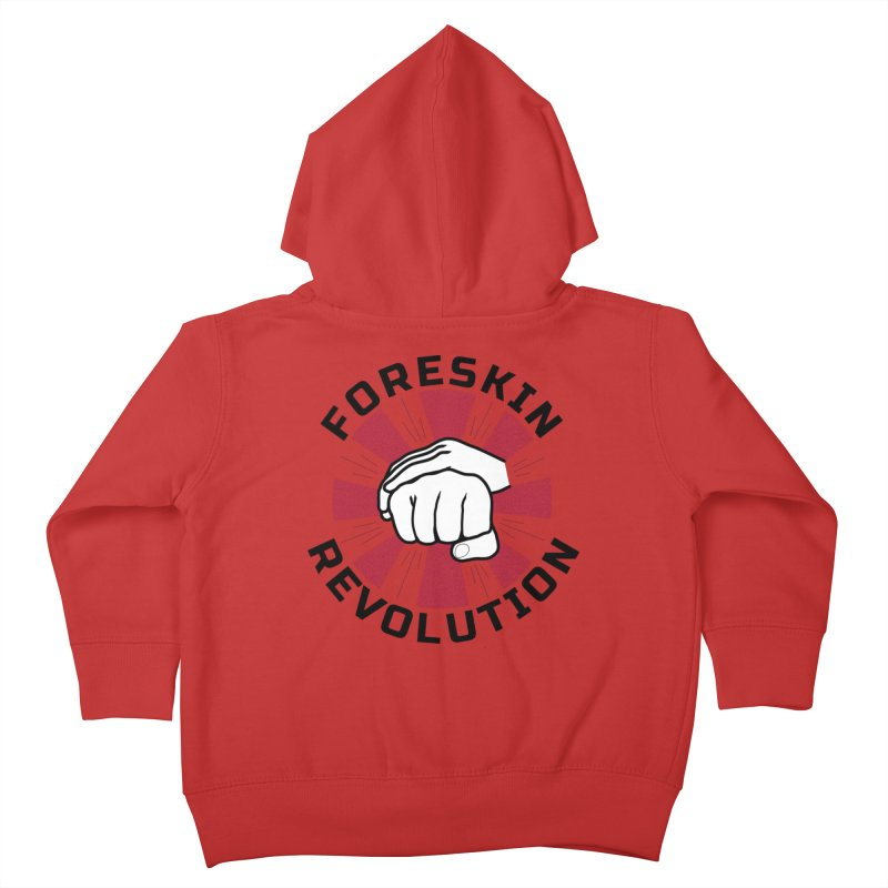 'Purple Rays' foreskin fist bump logo Kids Toddler Zip-Up Hoody by Foreskin Revolution's Artist Shop
