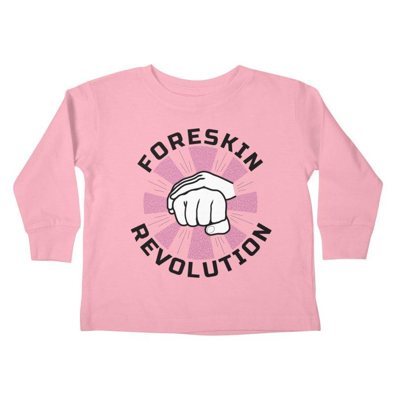 'Purple Rays' foreskin fist bump logo Kids Toddler Longsleeve T-Shirt by Foreskin Revolution's Artist Shop