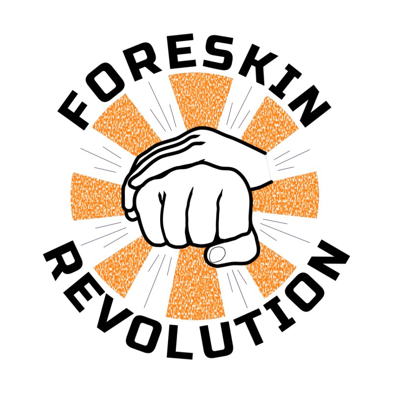 White hands foreskin fist bump logo Men's V-Neck by Foreskin Revolution's Artist Shop