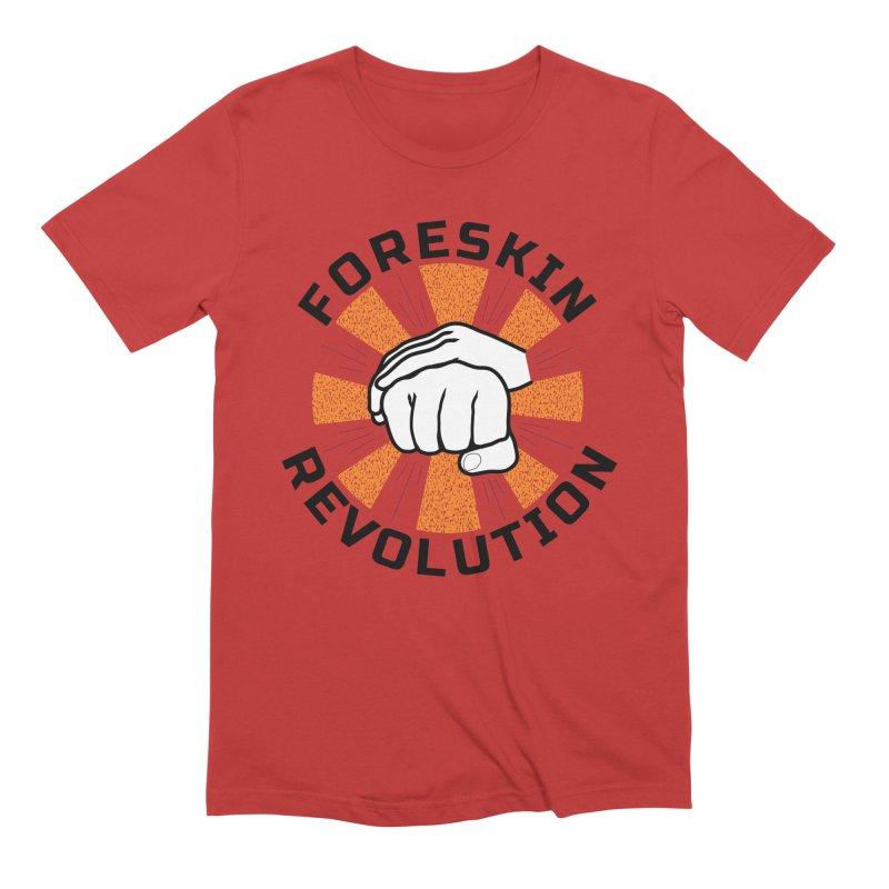 White hands foreskin fist bump logo Men's T-Shirt by Foreskin Revolution's Artist Shop