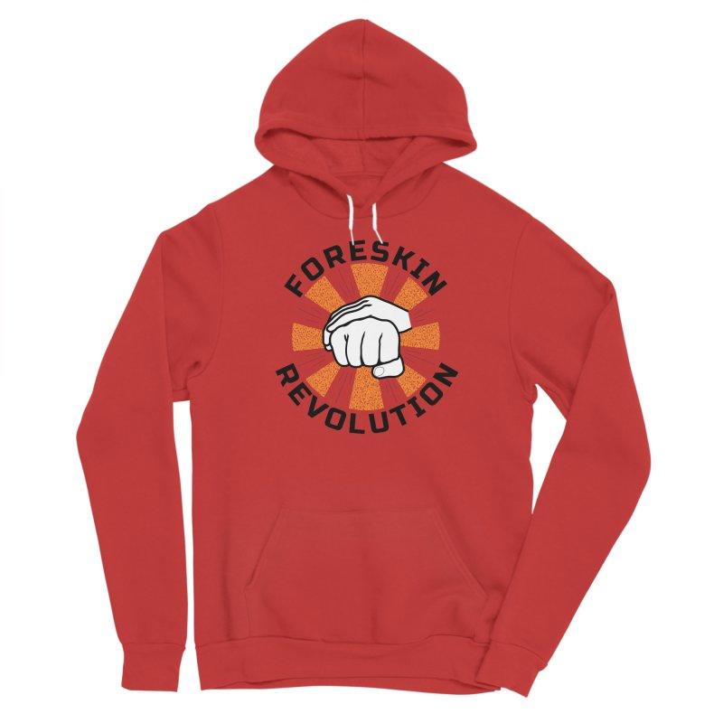 White hands foreskin fist bump logo Men's Pullover Hoody by Foreskin Revolution's Artist Shop