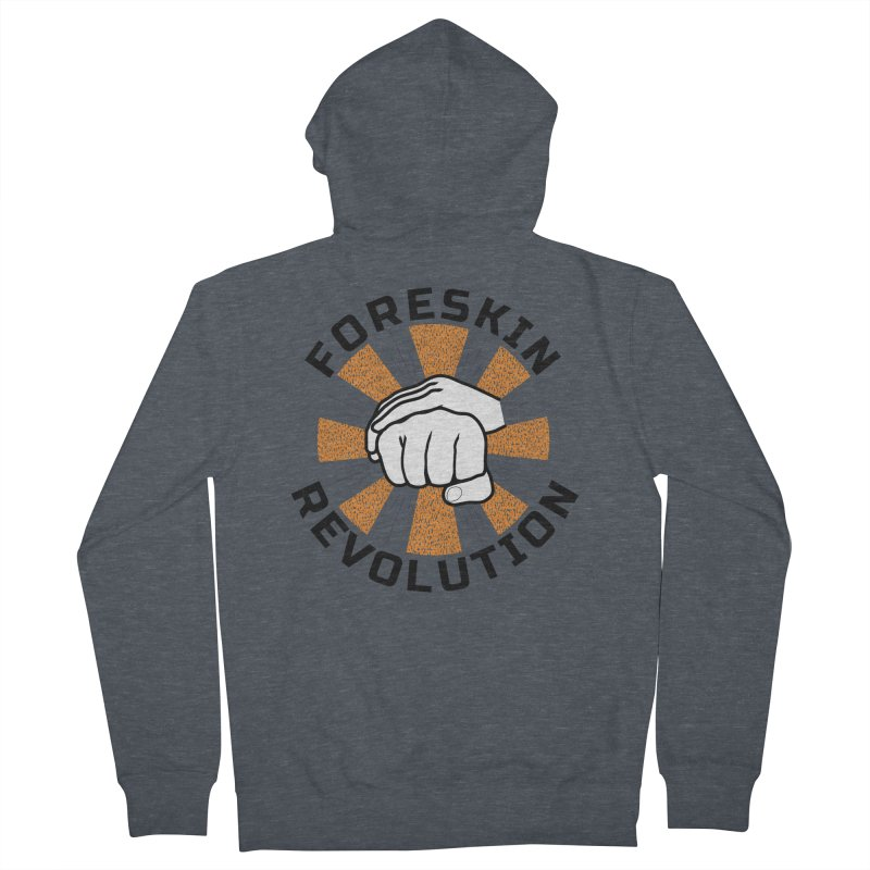 White hands foreskin fist bump logo Women's Zip-Up Hoody by Foreskin Revolution's Artist Shop