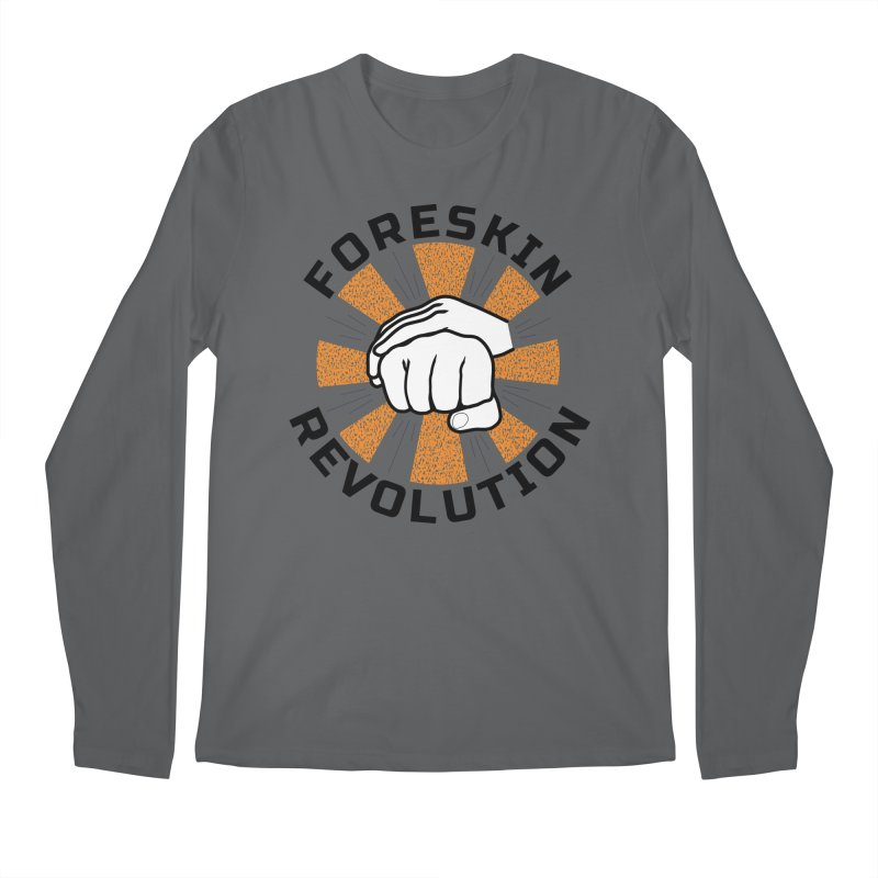 White hands foreskin fist bump logo Men's Longsleeve T-Shirt by Foreskin Revolution's Artist Shop