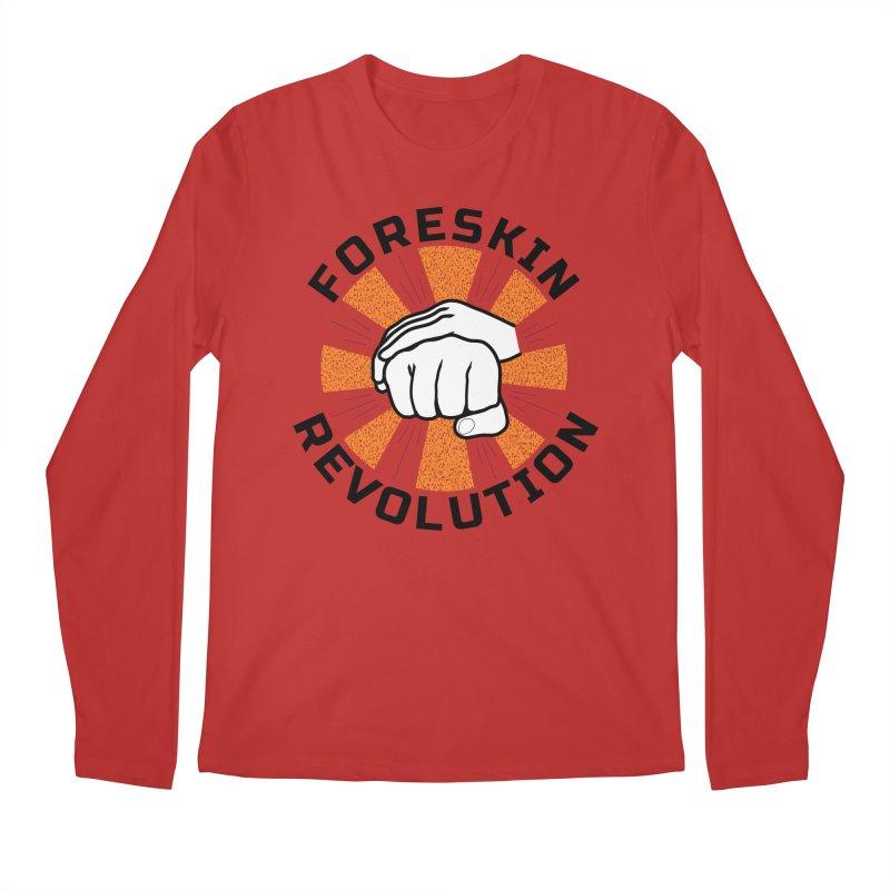 White hands foreskin fist bump logo Men's Longsleeve T-Shirt by Foreskin Revolution's Artist Shop