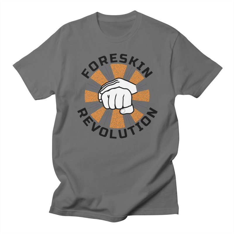 White hands foreskin fist bump logo Men's T-Shirt by Foreskin Revolution's Artist Shop