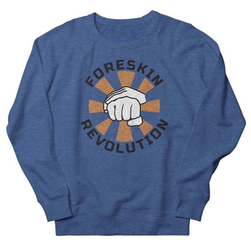 White hands foreskin fist bump logo Men's Sweatshirt by Foreskin Revolution's Artist Shop