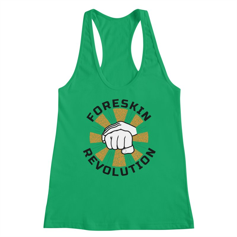 White hands foreskin fist bump logo Women's Tank by Foreskin Revolution's Artist Shop