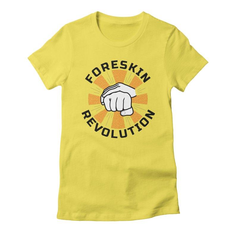 White hands foreskin fist bump logo Women's T-Shirt by Foreskin Revolution's Artist Shop