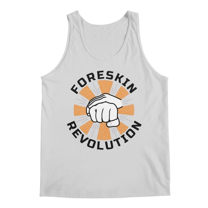 White hands foreskin fist bump logo Men's Tank by Foreskin Revolution's Artist Shop