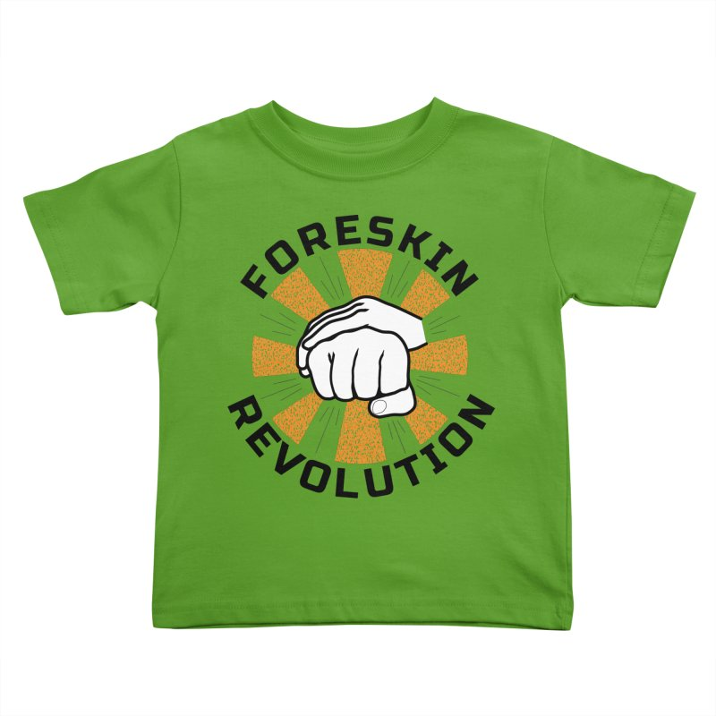 White hands foreskin fist bump logo Kids Toddler T-Shirt by Foreskin Revolution's Artist Shop