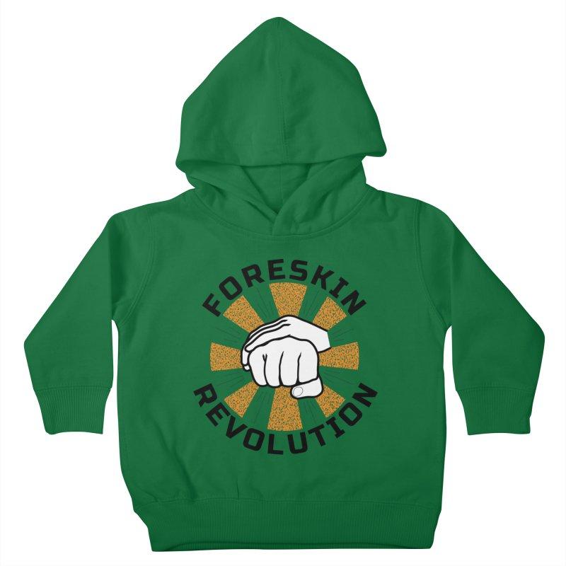 White hands foreskin fist bump logo Kids Toddler Pullover Hoody by Foreskin Revolution's Artist Shop