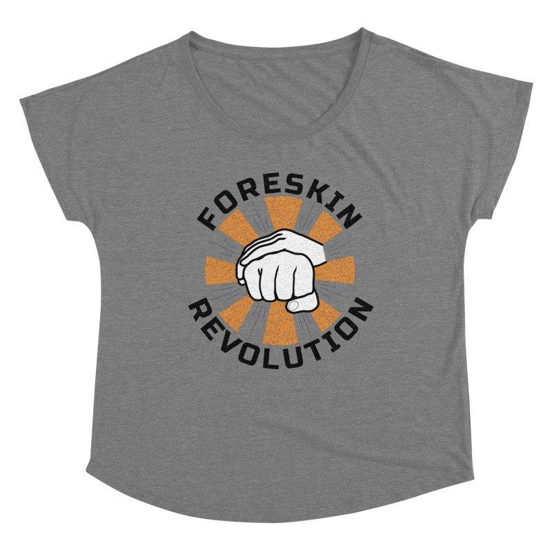 White hands foreskin fist bump logo Women's Scoop Neck by Foreskin Revolution's Artist Shop