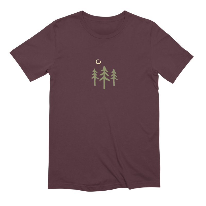Forest Moon Men's Extra Soft T-Shirt by Forest City Designs Artist Shop