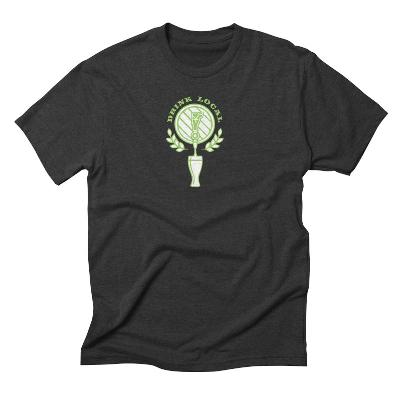 Drink Local Men's Triblend T-Shirt by Forest City Designs Artist Shop
