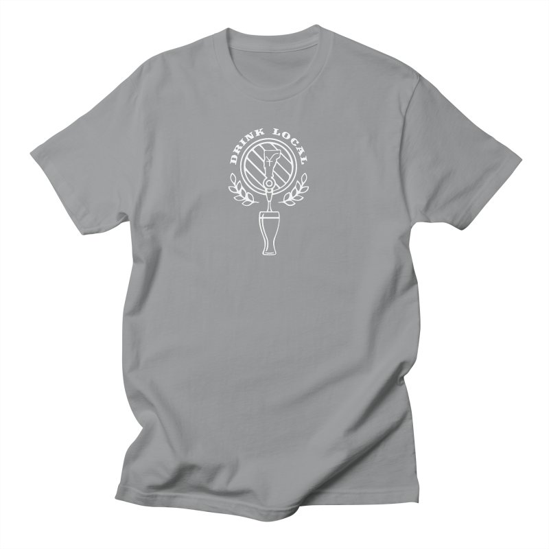 Drink local (white) Men's T-Shirt by Forest City Designs Artist Shop
