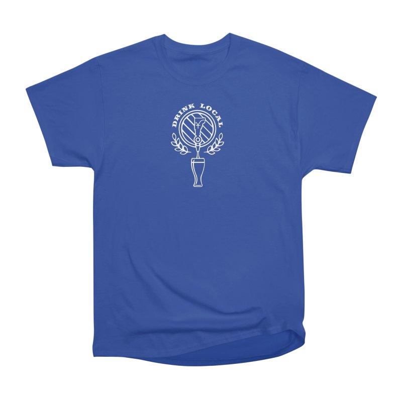 Drink local (white) Women's Heavyweight Unisex T-Shirt by Forest City Designs Artist Shop