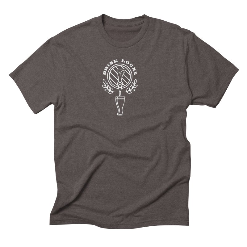 Drink local (white) Men's Triblend T-Shirt by Forest City Designs Artist Shop