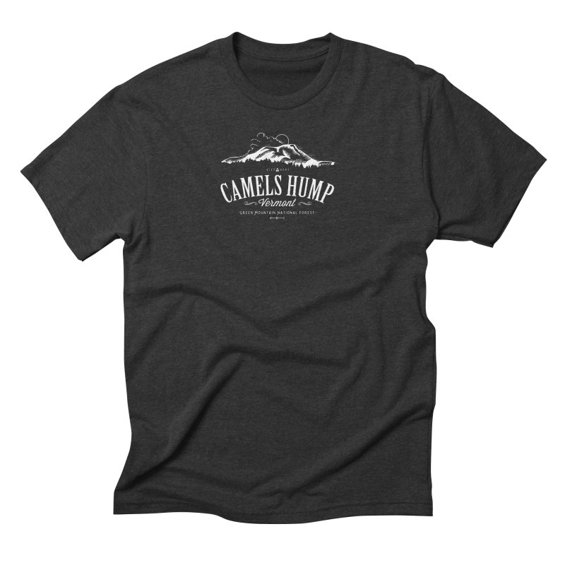 Camels Hump (white) Men's Triblend T-Shirt by Forest City Designs Artist Shop