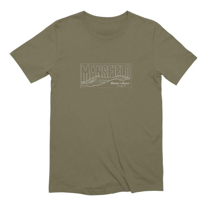 Mansfield, Vermont's highest Men's Extra Soft T-Shirt by Forest City Designs Artist Shop