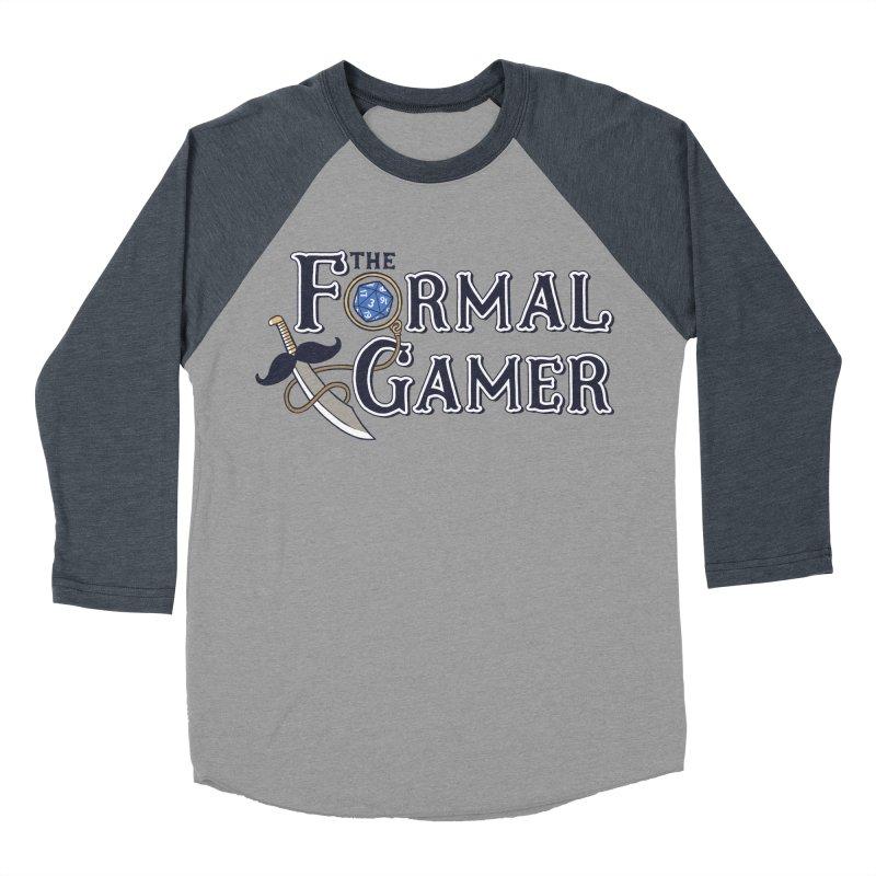 Formal Gamer Logo Men's Baseball Triblend Longsleeve T-Shirt by The Formal Gamer