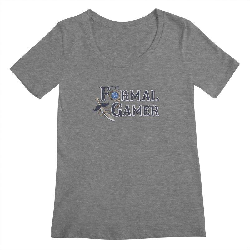 Formal Gamer Logo Women's Scoopneck by The Formal Gamer