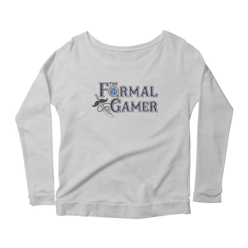 Formal Gamer Logo Women's Scoop Neck Longsleeve T-Shirt by The Formal Gamer
